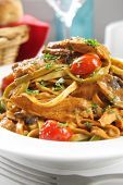 image of vegetarian meal  - Linguine with a tuna - JPG