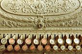 stock photo of shilling  - Vintage cash register - JPG
