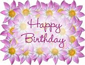 Flowers With Happy Birthday  poster