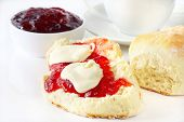 foto of devonshire  - Scones with Jam and Cream - JPG
