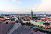 Copenhagen Skyline Panoramic Cityscape poster