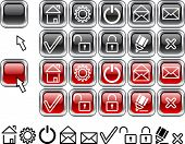 Collection of buttons. Vector illustration.
