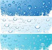 Three wet surfaces. Vector illustration.