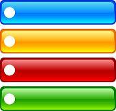 Botones brillantes de REC. Ilustración del vector.