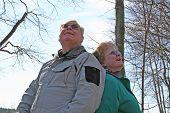 Seniors Enjoying Nature In The Woods!