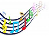 Colorful Music Notes Illustration