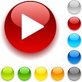Joga botão brilhante. Ilustração vetorial.