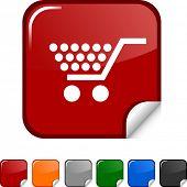 Icono de etiqueta comercial. Ilustración del vector.