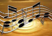 Chrome Music Ripple Sunset