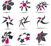 Set of 3d vector icons such logos.