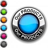 Nosso produtos botão realista. Vector.
