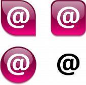 Arroba glossy vibrant web buttons.