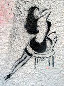 Grafitti estêncil mulher Sexy