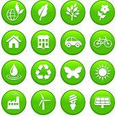 Ilustración de vector original: conjunto de iconos de elementos de medio ambiente