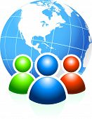 Global Communication Original Vector Illustration Ideal for internet concepts