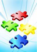 Incomplete Puzzle Pieces Original Vector Illustration Incomplete Puzzle