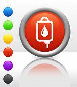 IV blood Icon on Internet Button Original Vector Illustration