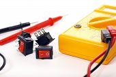 Multimeter And Switches, Focus On Switches