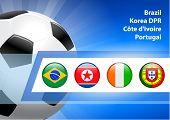 2010 Soccer/Football Group G  Original Vector Illustration AI8 Compatible