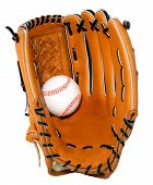 Baseball Glove And Ball Isolated