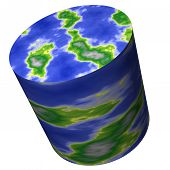 Cylinder World Map - Out Of The Box