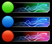 Tcl/Tk-farbigen Buttonset mit Banner-Original-Illustration
