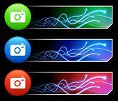 Kamerasymbol auf Tcl/Tk-farbigen Button Set Original Illustration
