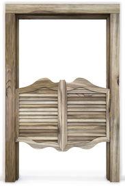 image of wild west  - Old Western Swinging Saloon Doors - JPG