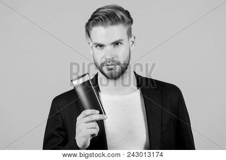 Man With Shampoo Or Conditioner
