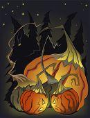 Mad Halloween-Kürbisse