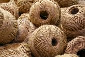 Heap Of Balls Of Very Rough And Rough Twine For Sale In The Haberdashery Shop poster