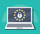 General Data Protection Regulation - Gdpr. Vector Illustration. Law About Personal Data Protection.  poster