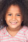 image of afro hair  - Adorable african little girl with beautiful hairstyle isolated over white - JPG