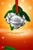 Vector Christmas Sleigh Bell Card