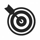 Target Icon Simple Vector Sign And Modern Symbol. Target Vector Icon Illustration, Editable Stroke E poster