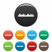 Equalizer Frequency Icon. Simple Illustration Of Equalizer Frequency Vector Icons Set Color Isolated poster