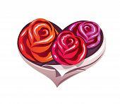 Roses heart
