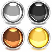 Colorful Glossy Buttons-set3