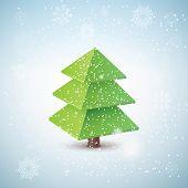 Vector 3d christmas tree