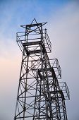 image of oil derrick  - Today the top of the derricks are fitted with Christmas stars - JPG