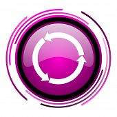 Rered blue round webyellow glossy web pink glossy web icon isolated on white background poster