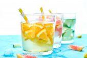 Healthy Detox Citrus Water Or Lemonade. poster