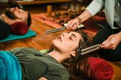 Tuning Fork In Sound Therapy, Toned Image poster