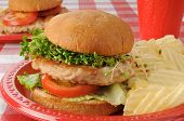 Turkey Burger With Sprouts