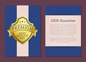 100 Guarantee Premium Best Quality Exclusive Choice Golden Award Guarantee Label Logo Isolated On Bl poster
