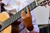 Live Musical Performance Of Brazilian Popular Music With Seven String Acoustic Guitar poster