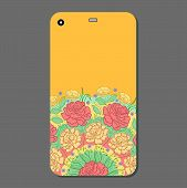 Phone Case Design. Fashionable Floral Ornaments For Mobile Phone Cover, Floral Mandala. Mobile Phone poster