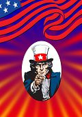 Uncle Sam In Red