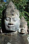 image of asura  - Close up of asura statue at south gate Siem Reap Cambodia - JPG