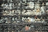 Sculptured Buddhas At Terrace Of The Elephant